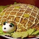 Салат с куриной грудкой «Черепаха»